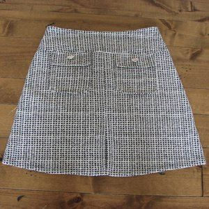 Dorothy Perkins Black White Tweed A-Line Skirt